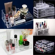 Clear Acrylic Holder Storage Cosmetic Lipstick Brush Jewelry Makeup Organizer