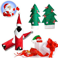 Household Natale Tree Decorations Coat Hat Wine Bottle Covers Bowknot Ornaments