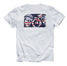 GENUINE Triumph Motorcycles Steve McQueen Flag Legend White T Shirt 50% OFF