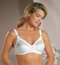 Naturana White Non-Padded Soft Cup Bra (Style 86085) Sizes 40D & 40DD - NEW!!