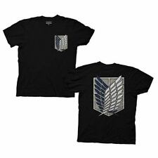 Attack On Titan Survey Corps Ripple Junction Adult Black T-shirt