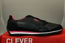 Puma Steeple Glitter Jr Girl's Shoes 35482001 Black Hot Pink Brand New In Box