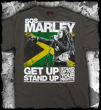 Bob Marley - Get Up Stand Up charcoal t-shirt - Official Merch