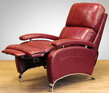 Barcalounger Leather Oracle II Manual Recline Lounger Chair Stargo Red Recliner