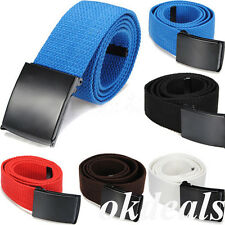 Newest Unisex Casual Canvas Sport Belt Men Plain Webbing Waist Buckle Waistband