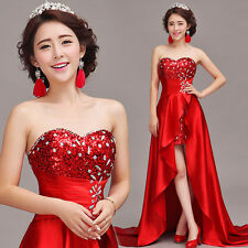 Strapless Evening Prom Party Wedding Bridesmaid Dress Dovetail Ballgown MY44