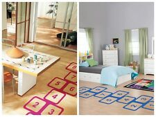 Classic Game Hopscotch Interesting Children's Room Waterproof Mural Wall Sticker