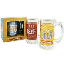 BEER GLASS MUG TANKARD PUB HOME GIFT KITCHEN ICE COLD PINT TRADITIONAL STEIN NEW