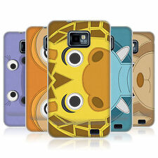 HEAD CASE ANIMAL PATCHES SERIES 2 GEL BACK CASE FOR SAMSUNG GALAXY S2 II I9100