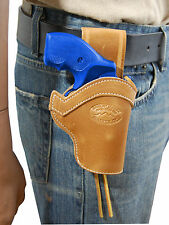 "NEW Barsony Tan Leather Western Belt Loop Holster S&W 22 38 357 Snub Nose 2"" Rev"