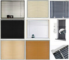 New PVC Blinds Window Venetian Home Office Easy Fit Blind Wood Effect All Sizes