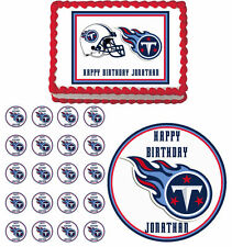 Tennessee Titans Edible Birthday Cake Cupcake Toppers Party Decorations Images