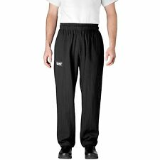Chefwear 3500-50 Ultimate Chef Pant Black/Grey Pinstripe all sizes XS-4XL NEW!