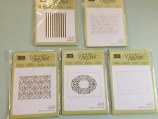 Stampin Up Embossing folders sizzix cuttlebug NEW *Choose One*