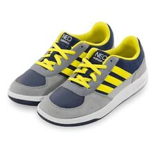 Adidas Vl Neo Label St Derby Racer Childrens Shoes Boys Leather Trainers Navy