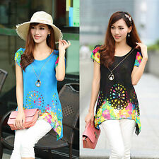 Hot New Fashion Women Lady Shirt Blouse Casual Chiffon Long Loose Tops