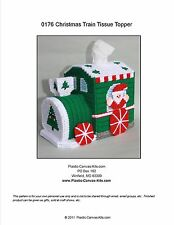 Christmas Train Tissue Topper-Plastic Canvas Pattern or Kit