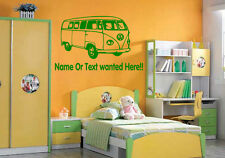 VW Camper personalised Wall Art Vinyl Graphic Sticker Wallpaper Decal!!! Bedroom