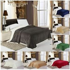 Sherpa Blanket Oversized Solid Reversible 7 Colors