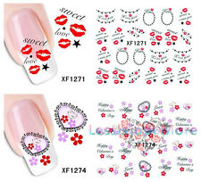 Sweet Day Must Have Water Transfers Nail Art Decal Half Wraps Sticker Decoration