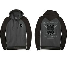 Game of Thrones Night's Watch Castle Black NWT Zip Up Hoodie Sweatshirt