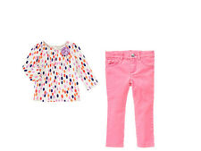 NWT Gymboree FAIRY TALE FOREST SZ 2T 2 pcs  Dot Top & Corduroy Skinny Pant