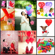 100pcs Heart Shape Balloons Wedding Anniversary Valentines Party Decoration NEW