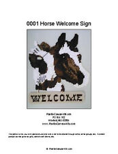 Horse  Welcome Sign- Plastic Canvas Pattern or Kit
