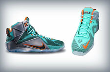 Nike (PS)  Lebron XII pre school 12 2014 TURQUOISE/ SILVER-BLACK- 685184-302