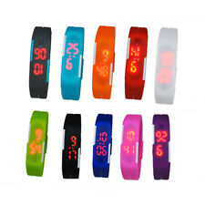 Womens Mens Boys LED Bracelet Watch New Arrival Silicone Sports Touch Watches