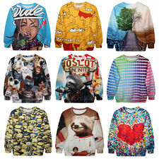 Fashion sexy Cartoon Emoji Jogging Sweatshirts 3d Printed Casual Men/Women Tops