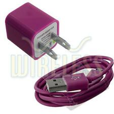 Hot Pink Wall Home Travel Charger + Micro USB Data Sync Cable For Cell Phones