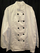 5 X WHITE UNISEX CHEF'S JACKETS (Professional/ fancy dress)