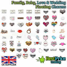 BABY FAMILY LOVE MARRIAGE CHARMS Living Memory Floating Charm Costume Jewellery