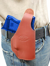New Barsony Burgundy Leather OWB Holster Glock Compact, Sub-Compact 9mm 40 45