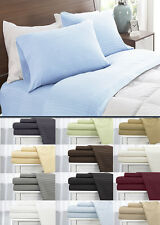 1800 EGYPTIAN COMFORT BED SHEET SET DEEP POCKET COUNT 4 PIECE KING QUEEN SIZES