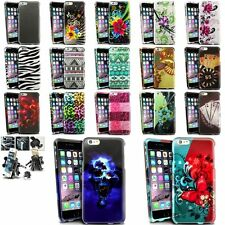"""Colorful Rubberized Design Cover Case+Air Vent Car Mount For iPhone 6 Plus 5.5"""""""