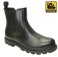 MENS WALKLANDER LEATHER SAFETY STEEL TOE CAP WORK BOOTS DEALER CHELSEA SHOES SZ