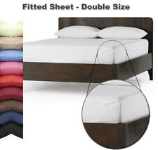 FITTED SHEET - DOUBLE Size - In 26 Colours - Autumn Nights