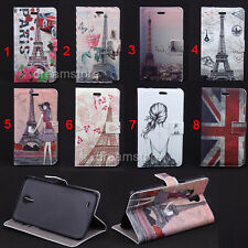 Deluxe Scenery Tower Wallet Leather Flip Case For Samsung Galaxy Mega 6.3 i9200