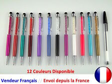 Combi Stylo avec Strass Stylet Pour Smartphone Tablette Iphone Galaxy Ipod Ipad