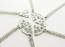 Pizza Slice Friendship Necklace (friend, silver plated, handcrafted, indie etc)