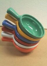 6 Heavy Weight Melamine HANDLED SOUP BOWL 10 OZ Salsa, Spinach Dip Choose Colors