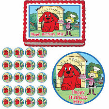 Clifford Edible Birthday Cake Cupcake Topper Party Decoration