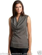 NEW Womens GUESS by MARCIANO Parker Polka Dot Retro Cowl Top Shirt Blouse sz XS