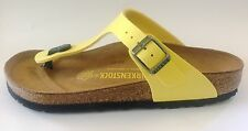 New Birkenstock Gizeh Classic Sandals - Sun Yellow - Made In Germany