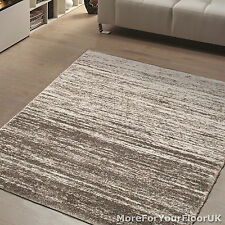 Silver Brown Cream Contemporary Pattern Rug Thick Soft Touch Great Quality Cheap