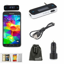 EEEkit Car Kit for Samsung Galaxy S5 Note 4 iPhone 6 Plus,FM Transmitter+Charger