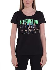 All Time Low Bench Press Band Shot Official Womens New Black Skinny Fit T Shirt