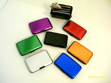 ALUMA SECURITY WALLET, RFID BLOCKING, STYLISH, UNISEX, PICK YOUR COLOR